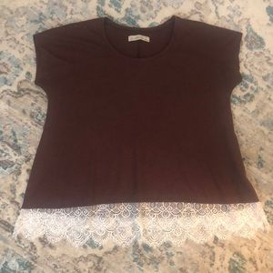 Abercrombie and Fitch Lace Hem Swing Tee